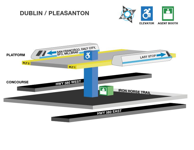 Dublin/Pleasanton station accessible path