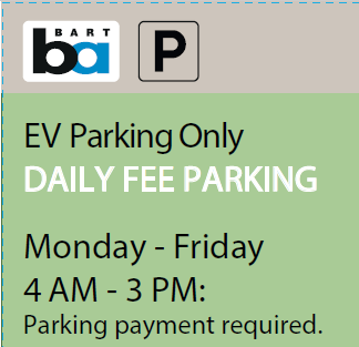 Green Daily Fee sign insert