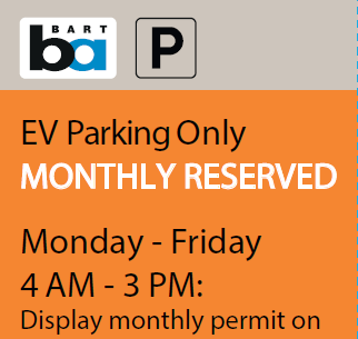 Orange Monthly Permit sign insert