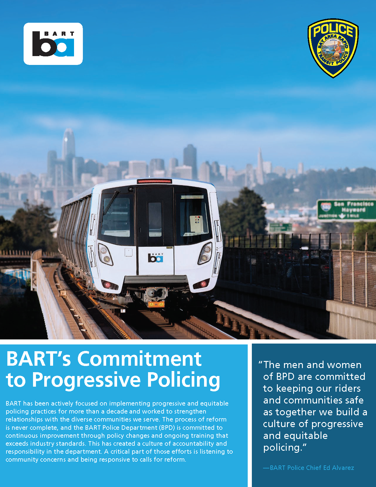 BART's commitment to progressive policing cover page