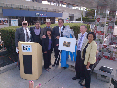 Warm Springs Extension Tile Bench Art Dedication