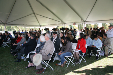 Over 200 people gathered to witness the WSX ground breaking ceremony.