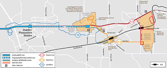 BART East Ave Livermore Extension Graphic