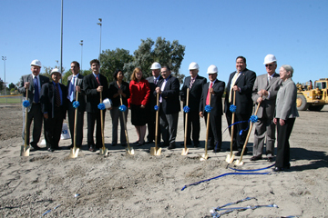Elected officials from Alameda and Santa Clara counties break ground on WSX.