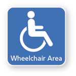 External wheelchair signage