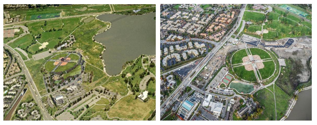 Fremont Central Park Project Rendering & Aerial