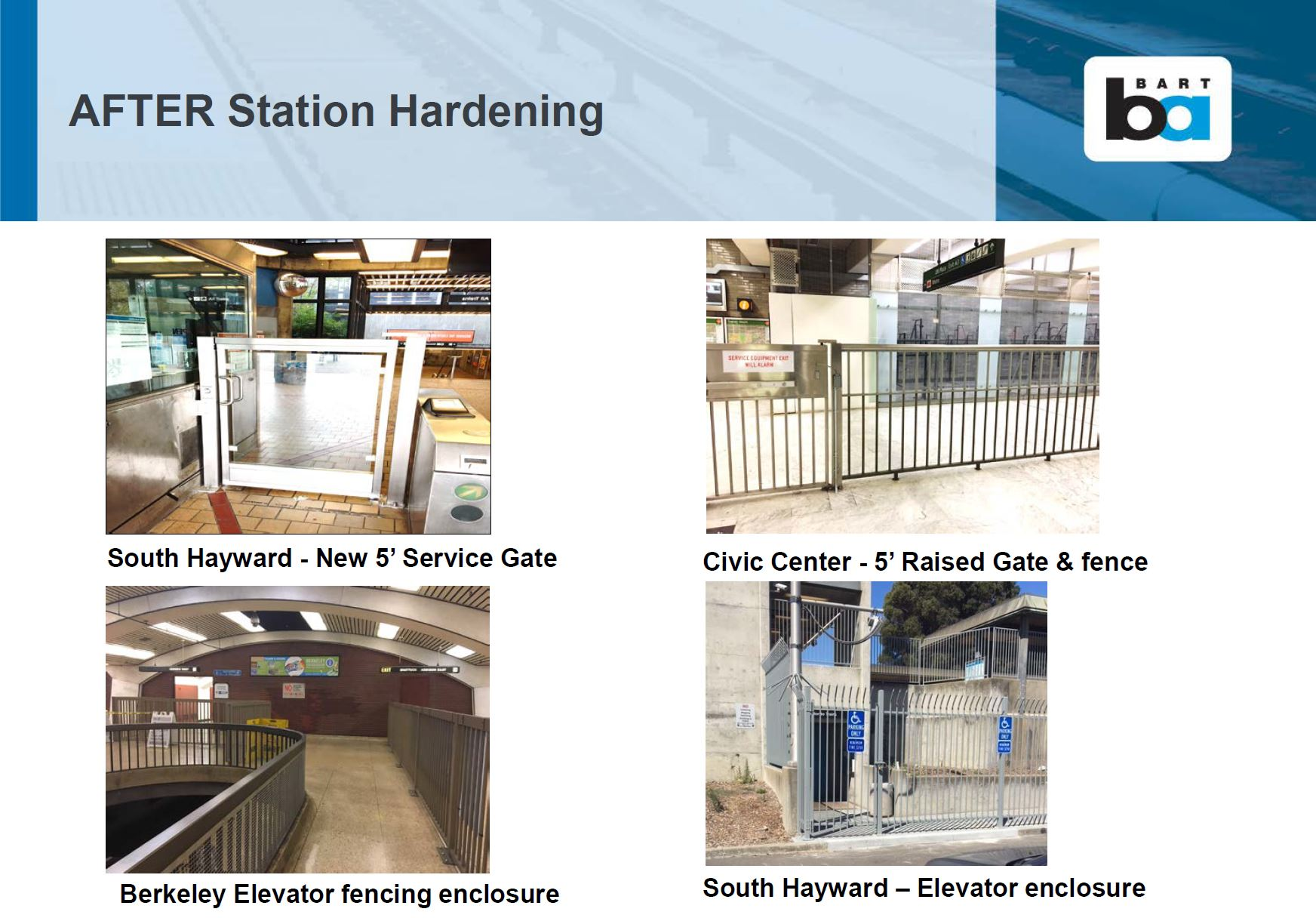 Pictures after station hardening