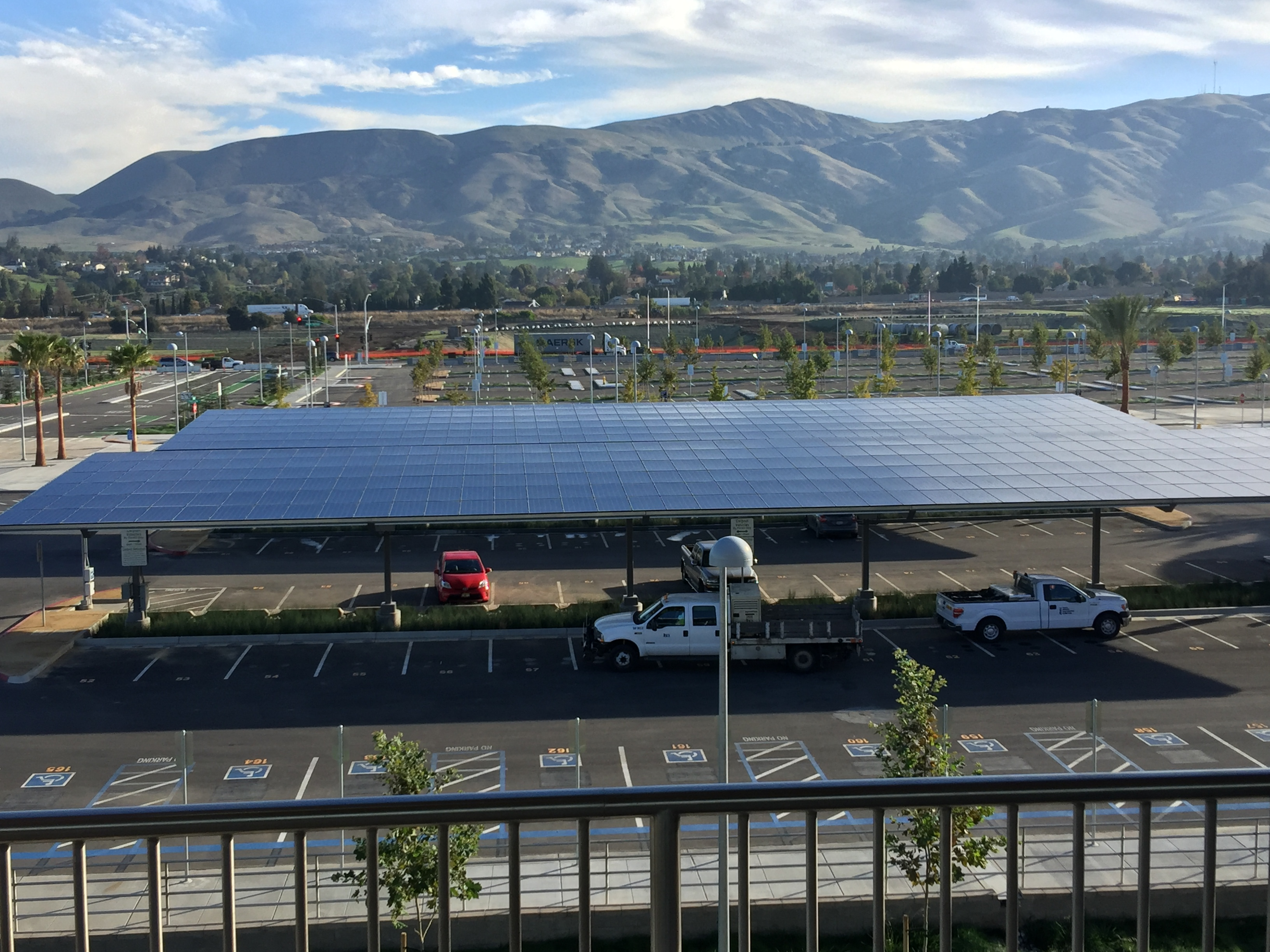 Parking Lot Solar Panel Canopies Warm Springs / South Fremont Station