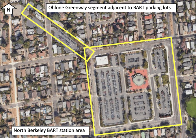 2020 Overview of BART station area and Ohlone Greenway