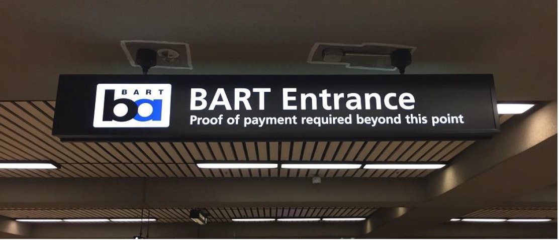 Proof of payment signage