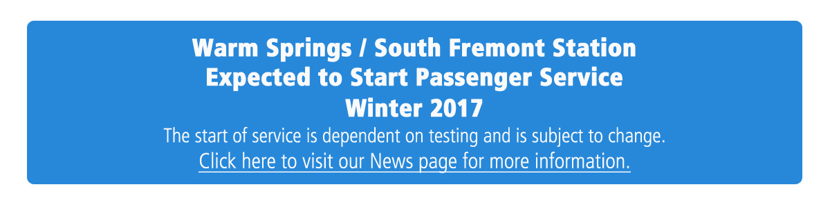 WS/SF Station Opening Winter 2017