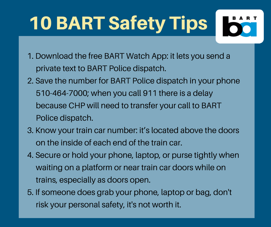 Safety tips (first 5)