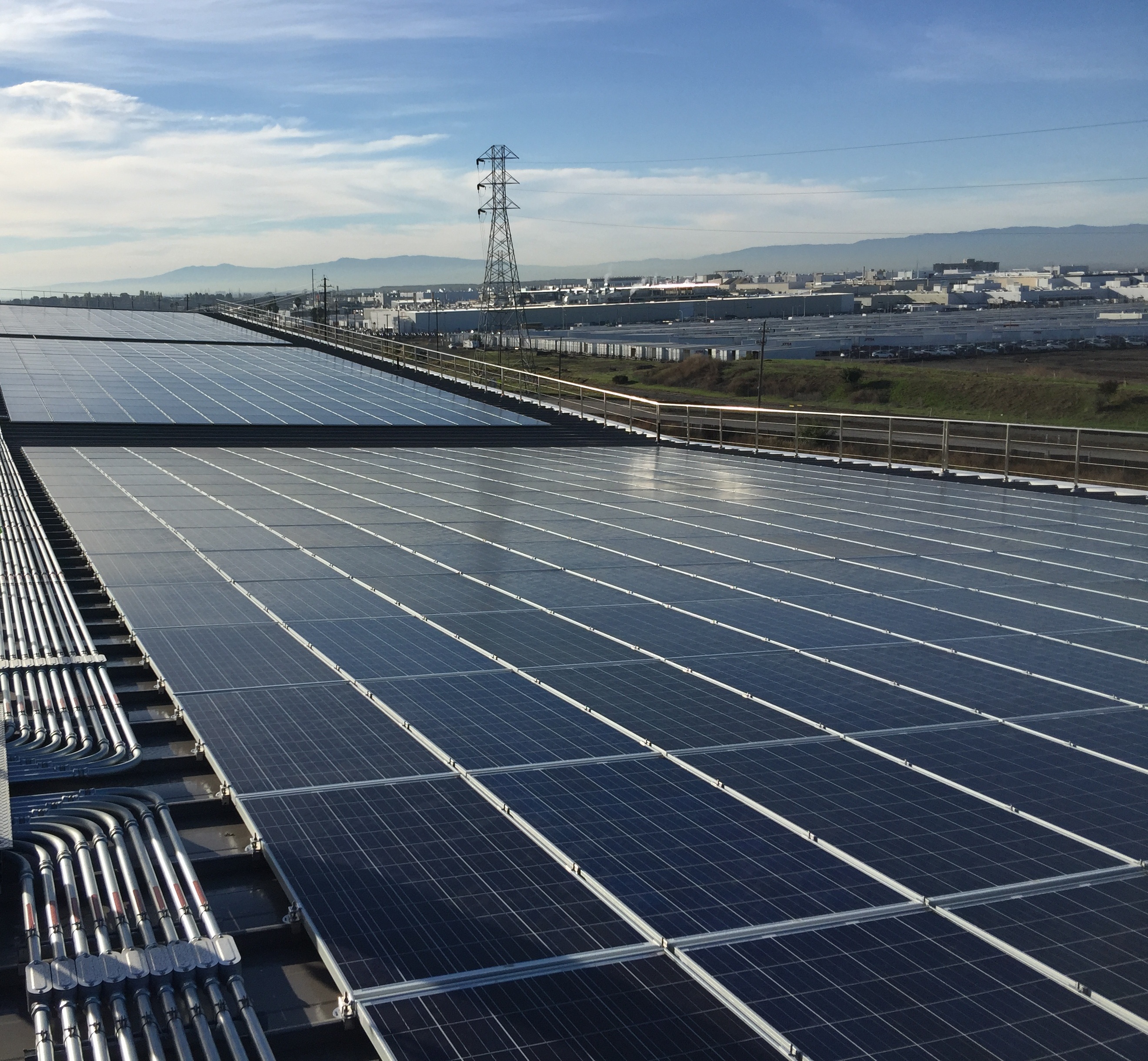 Solar Panels at Warm Springs / South Fremont Station