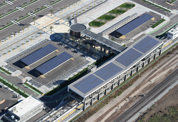 Solar Panels at Warm Springs/South Fremont Station