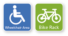 Wheelchair and bicycle signage
