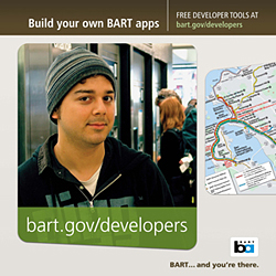 BART developer advertisement.