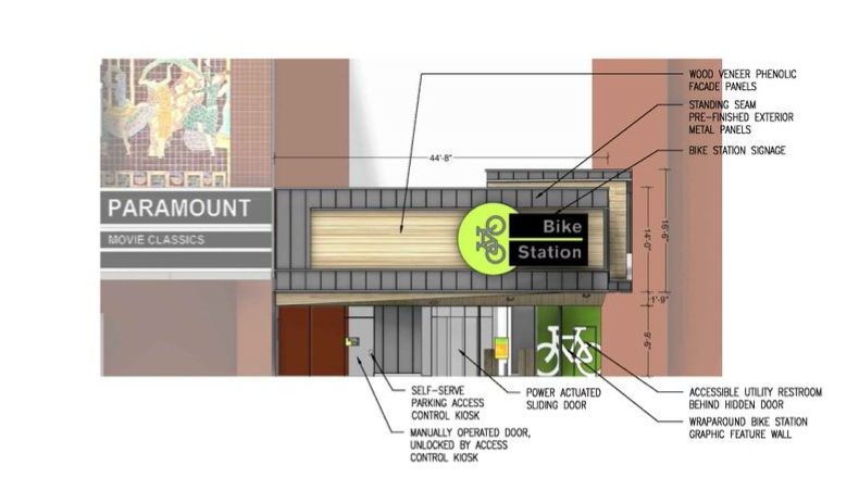 Planned 19th St bike station rendering 2