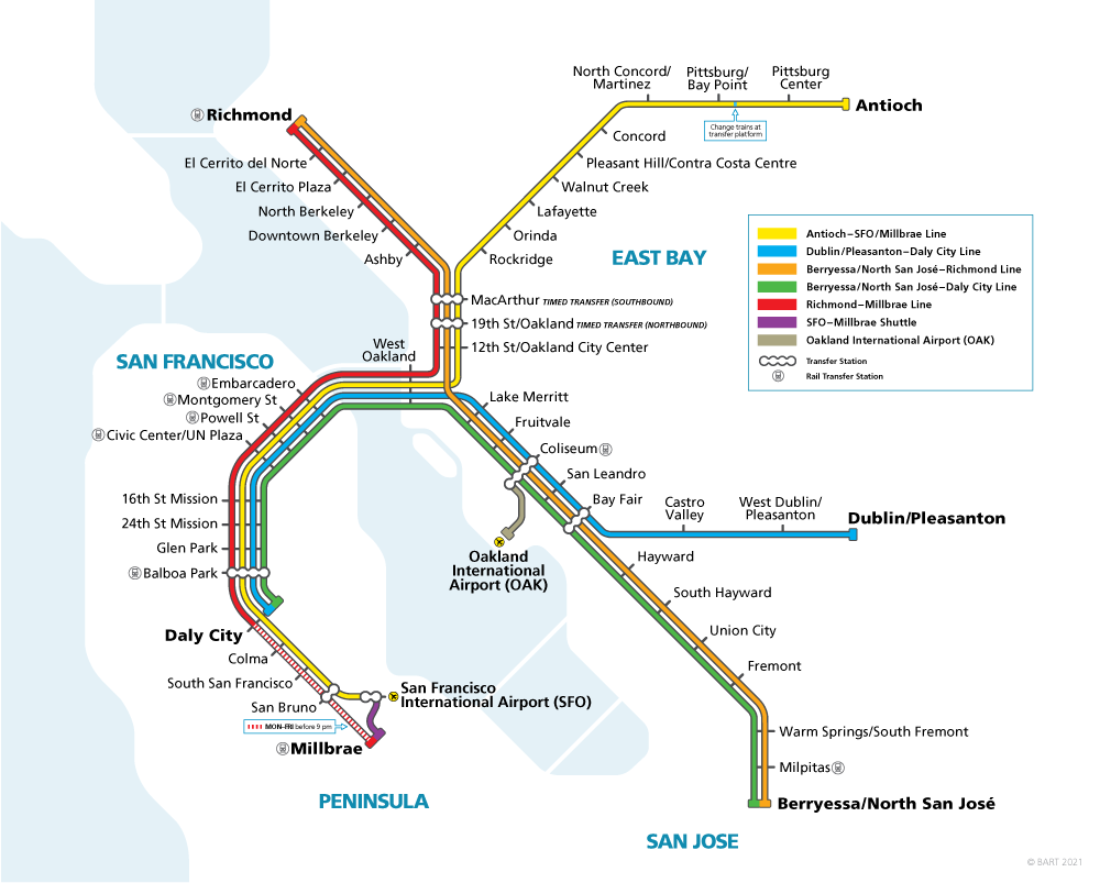Daly City Bart Map Schedules | bart.gov