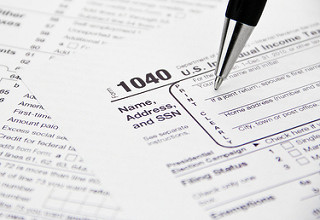 stock photo of tax sheet
