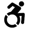 Accessible wheelchair symbol
