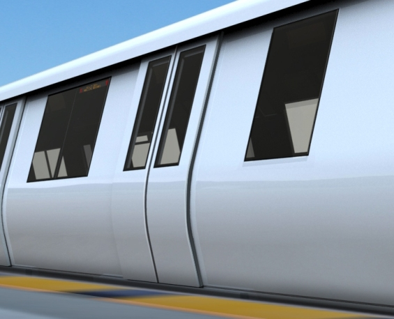 Micro-plug  style doors are designed to be quieter than the current style of door & Three doors on new train cars to reduce noise improve reliability ...