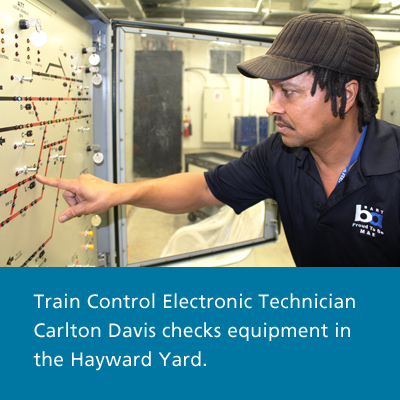 Train Control Electronic Technician Carlton Davis