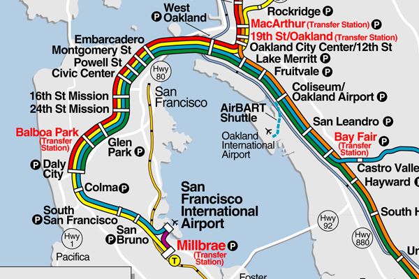 Four BART stations opened in 2003