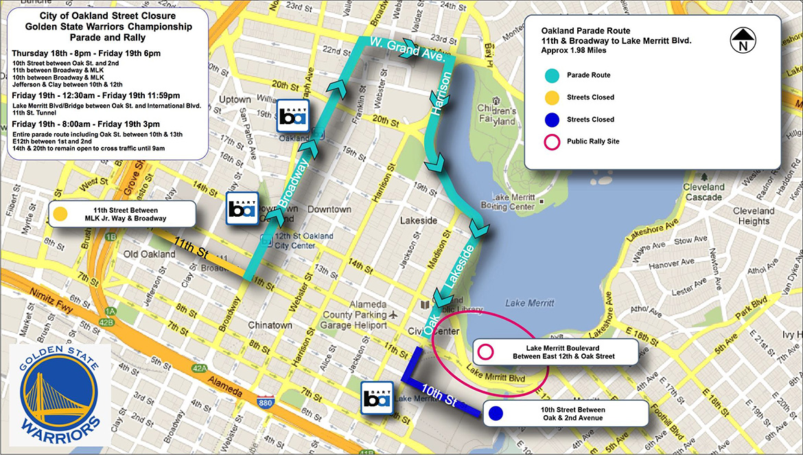 parade route for warriors