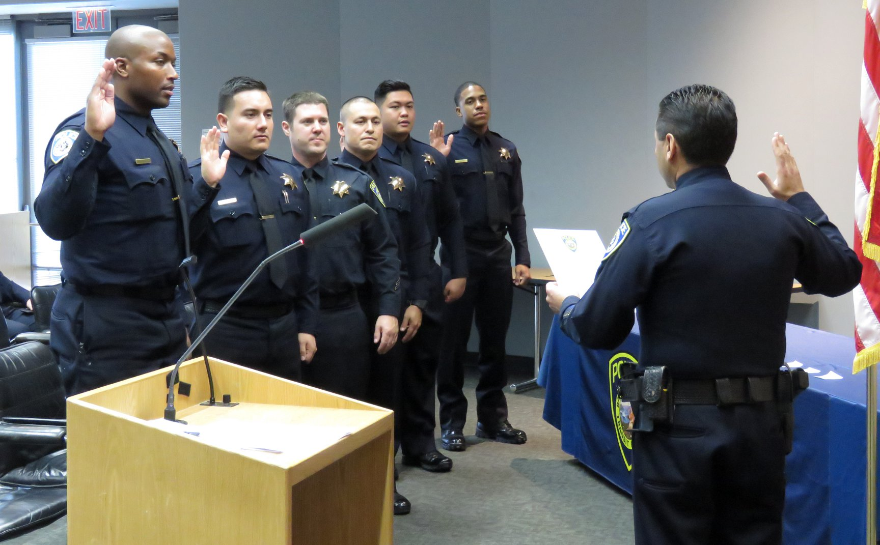 BPD laterals swearing in