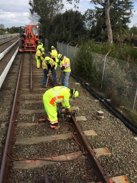 Rail work between Union City and South Hayward