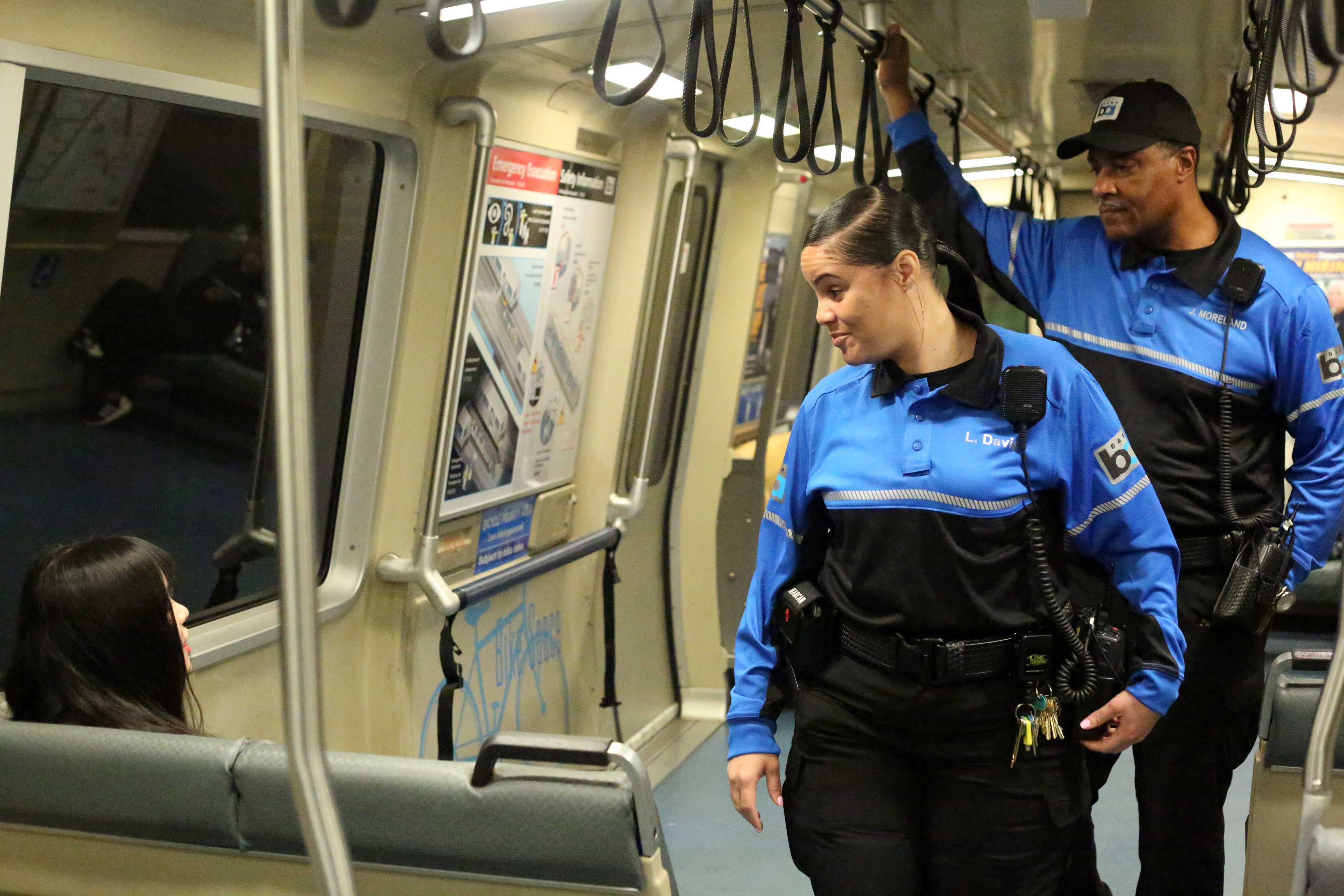 BART Ambassadors patrolling a train