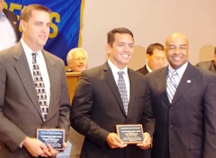BART Police Officers receiving award