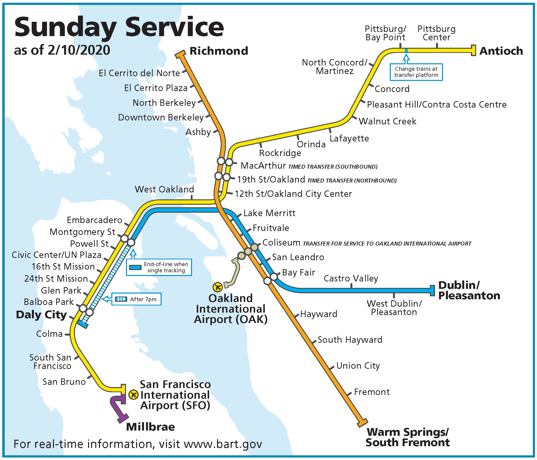 Sunday map starting February 2020