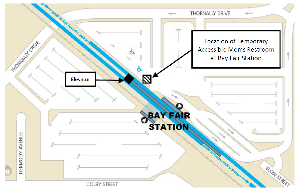 Location of temporary restroom