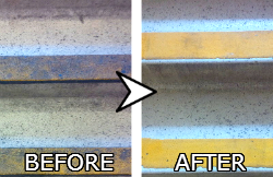 Stairs cleaning before and after