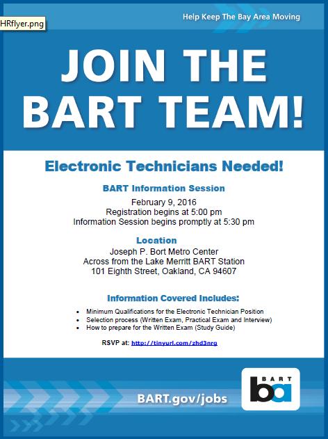 bart recruits electronic techs info session feb 9 bart gov rh bart gov High School Test Science Study Guide