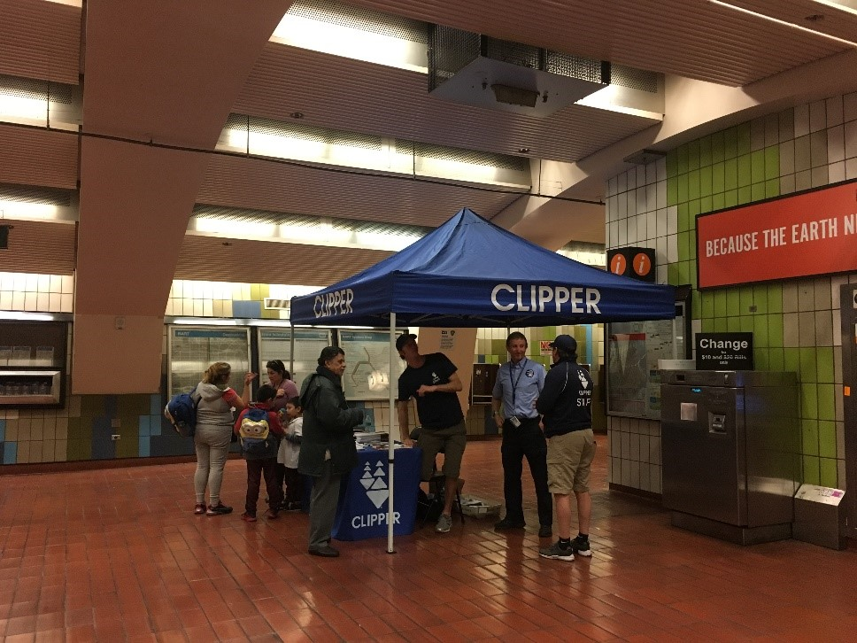 February Clipper outreach event at 16th St./Mission Station