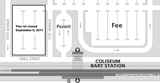 Map of closed lot