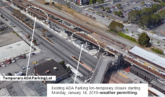 Temporary ADA parking relocation Coliseum