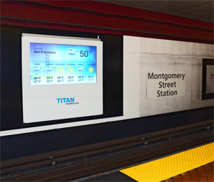 Pilot digital screen at Montgomery Station