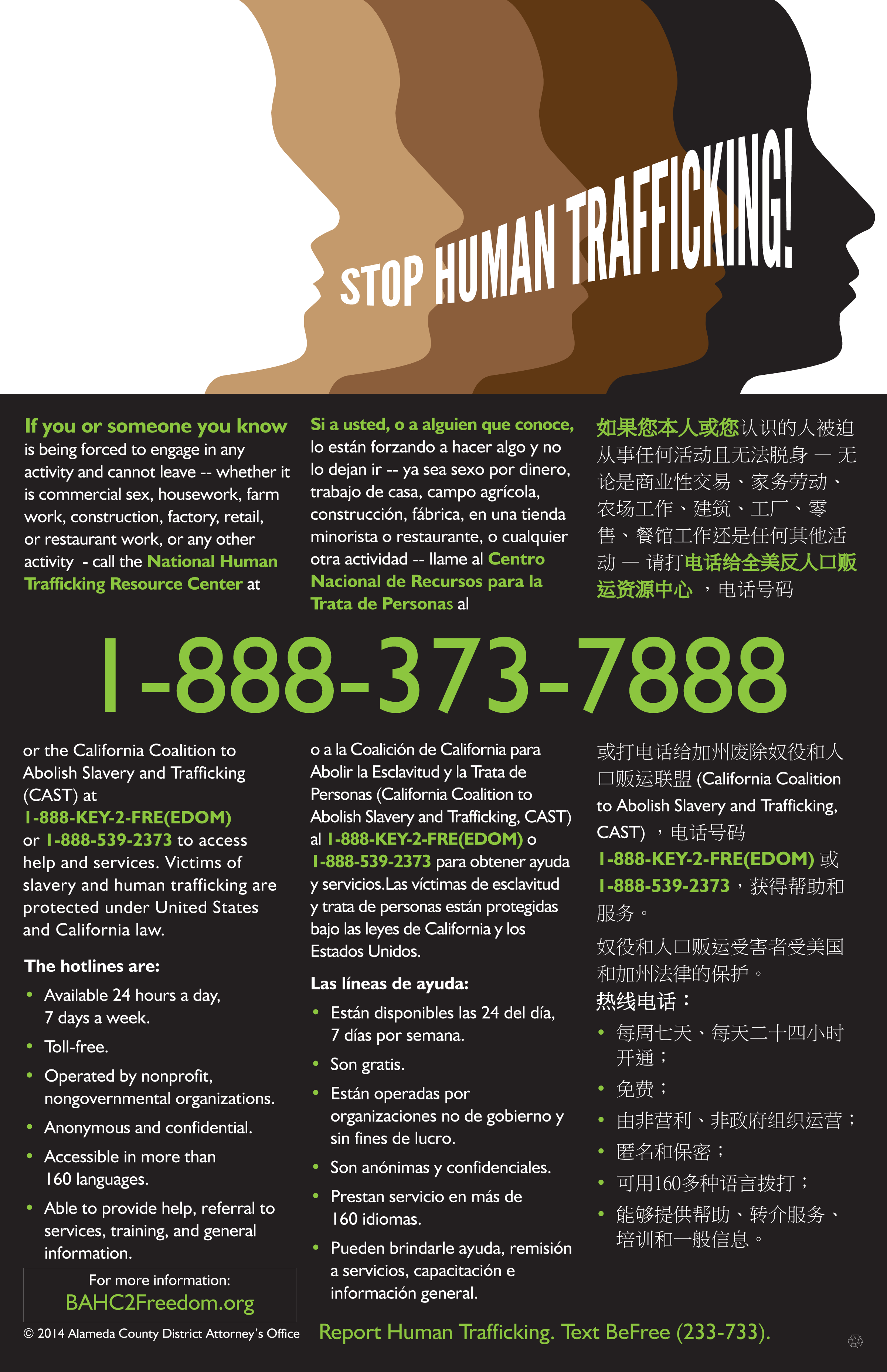 poster on human trafficking