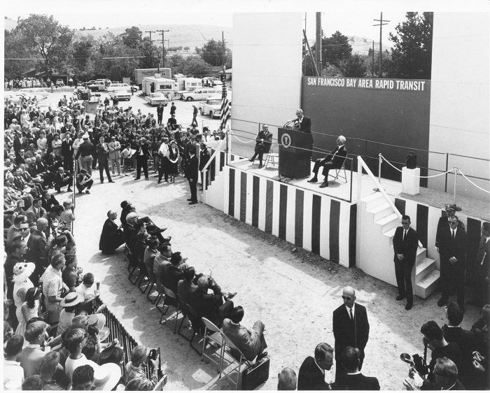 Lyndon B Johnson BART Groundbreaking 1964