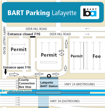 Map of parking at Lafayette