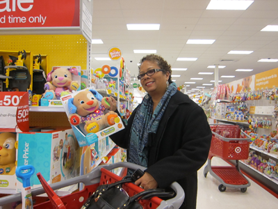 lisa moland shops for toys