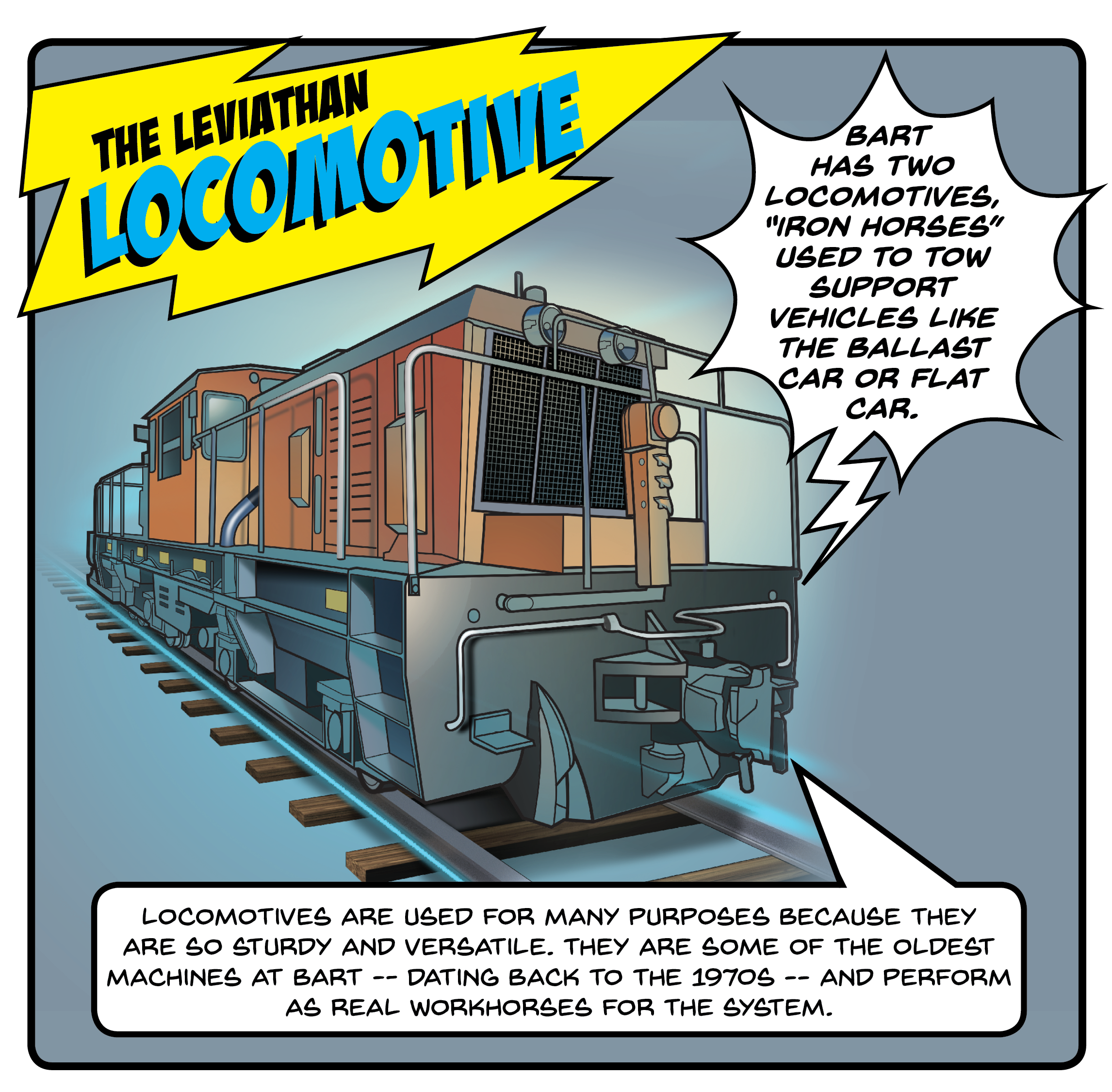locomotive artwork