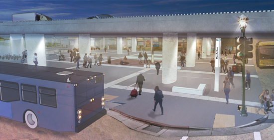 Plaza project rendering