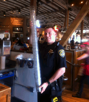 BART PD officer at Tip-A-Cop Night
