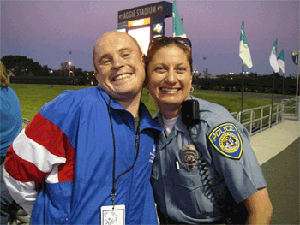 BART PD officer with Special Olympics athlete