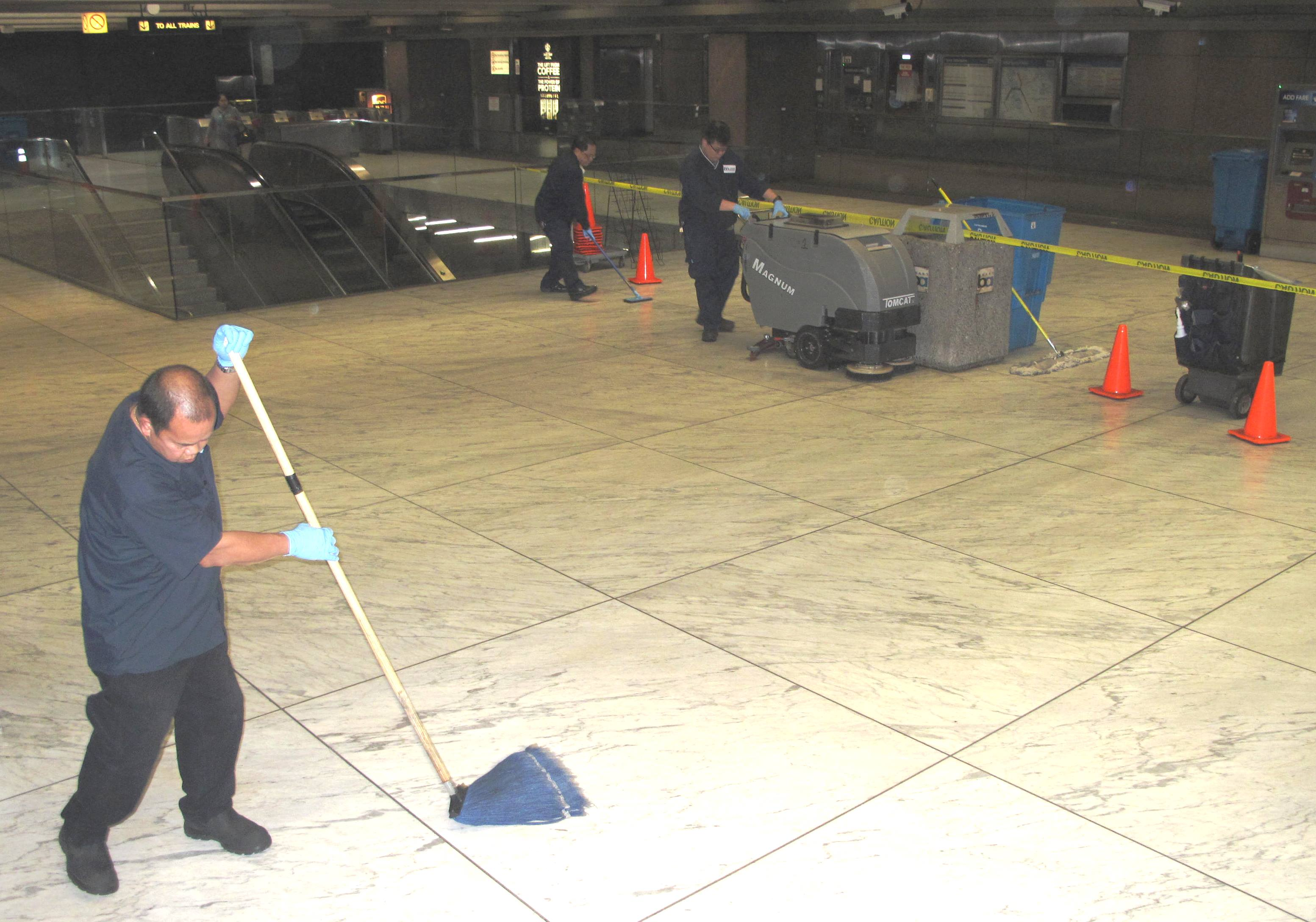 special project crew brings Embarcadero floor back to life