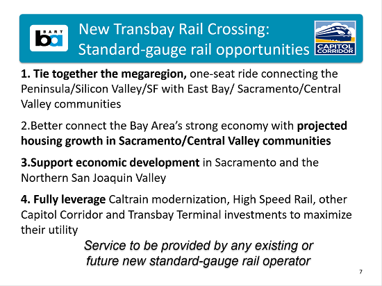 Second Transbay rail opportunity